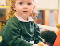 Manor House School Nursery with chick