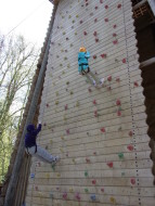 Manor House Juniors Scaling Wall