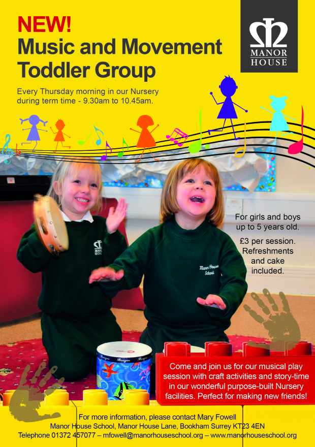 Manor House Toddler Group Flyer
