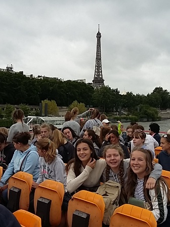 Manor House School girls cruise the Seine on a bateau mouche