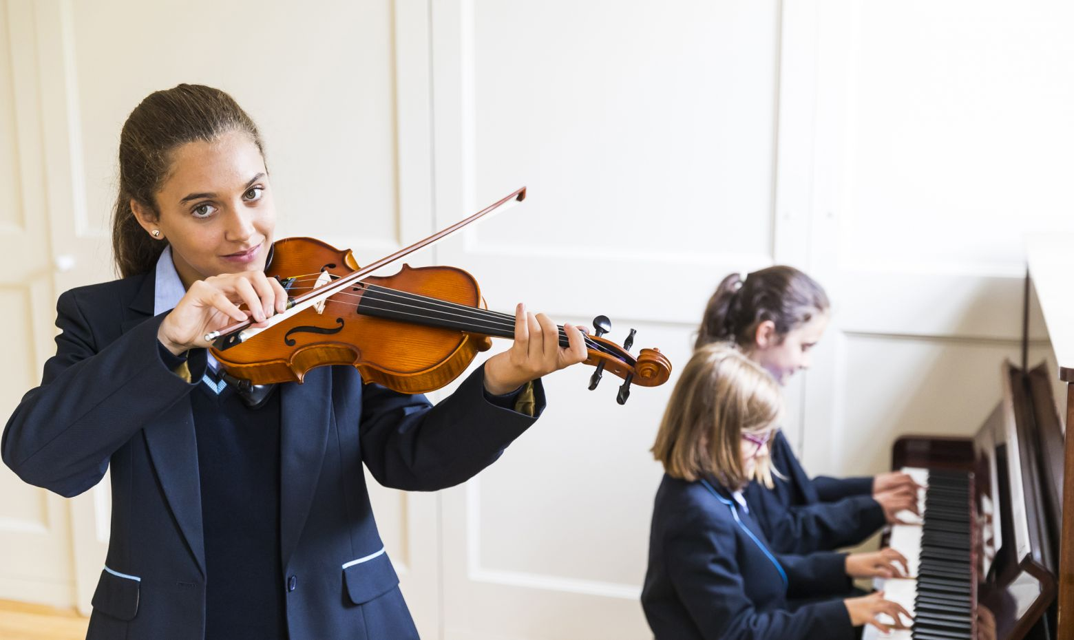 Music lesson at Manor House School